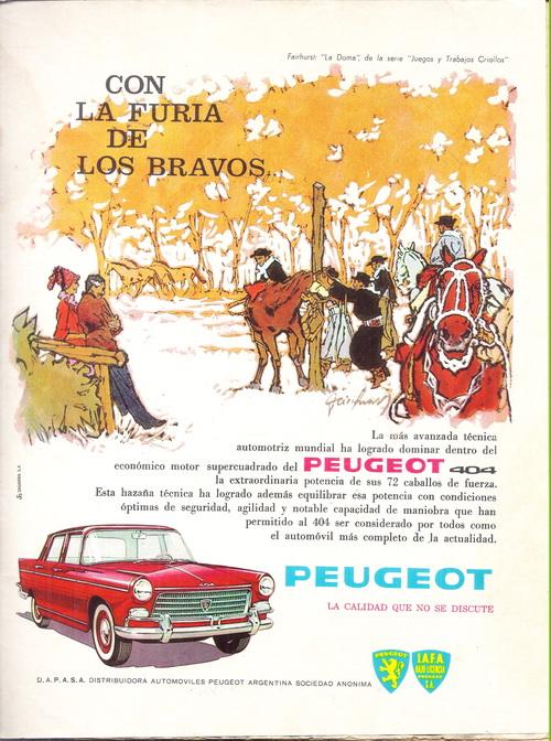 PEUGEOT 404|CON LA FURIA DE LOS BRAVOS